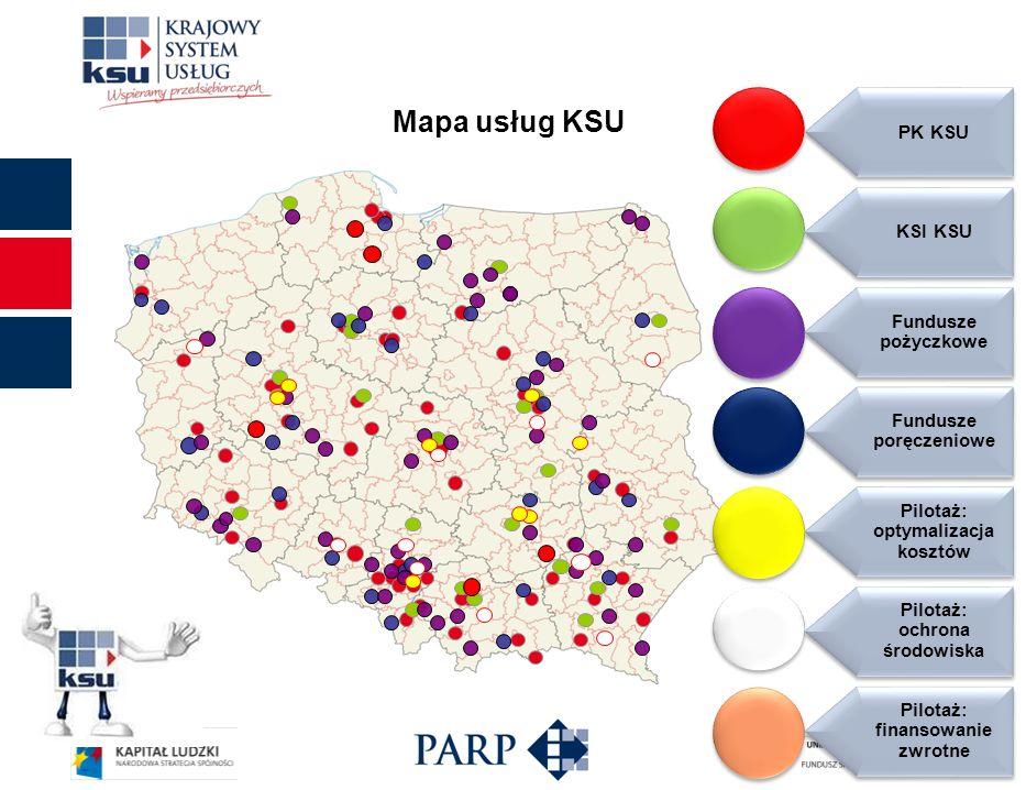 Mapa usług KSU PK KSU KSI KSU Fundusze pożyczkowe