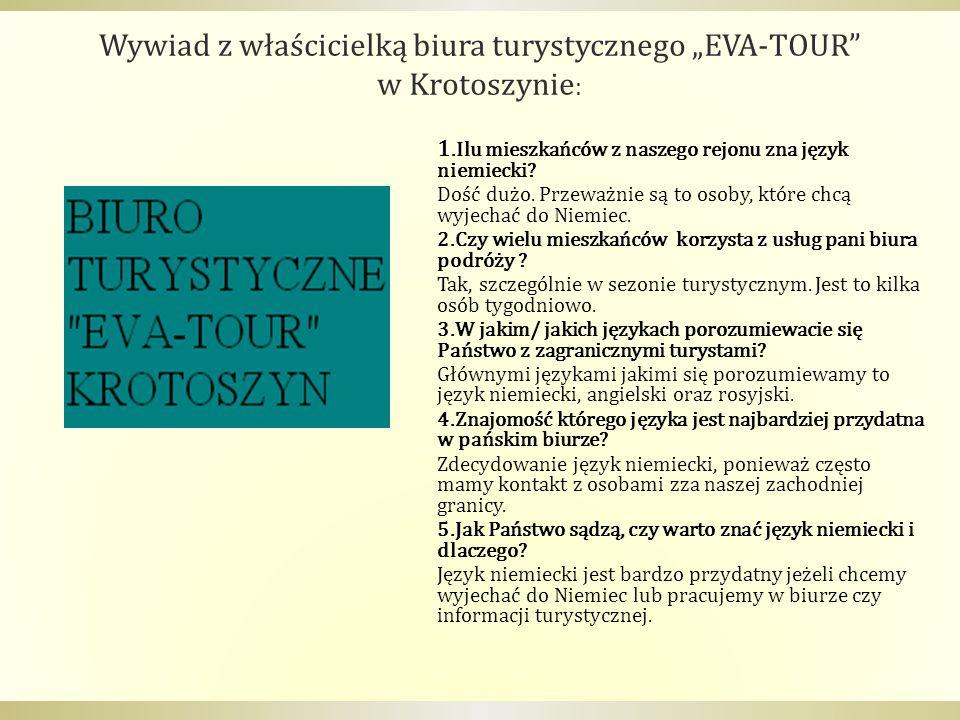 """Wywiad z właścicielką biura turystycznego """"EVA-TOUR"""