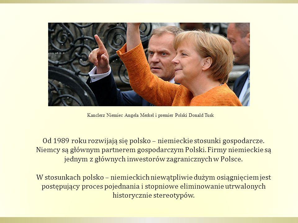Kanclerz Niemiec Angela Merkel i premier Polski Donald Tusk