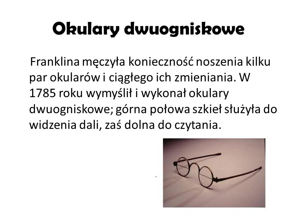 Okulary dwuogniskowe