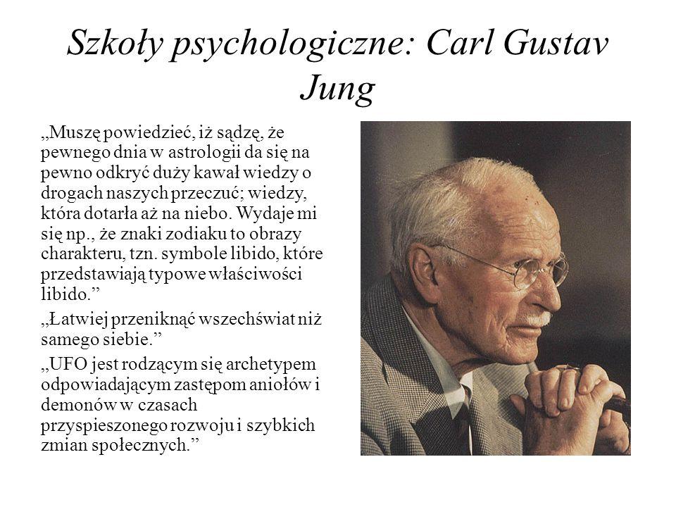 Szkoły psychologiczne: Carl Gustav Jung
