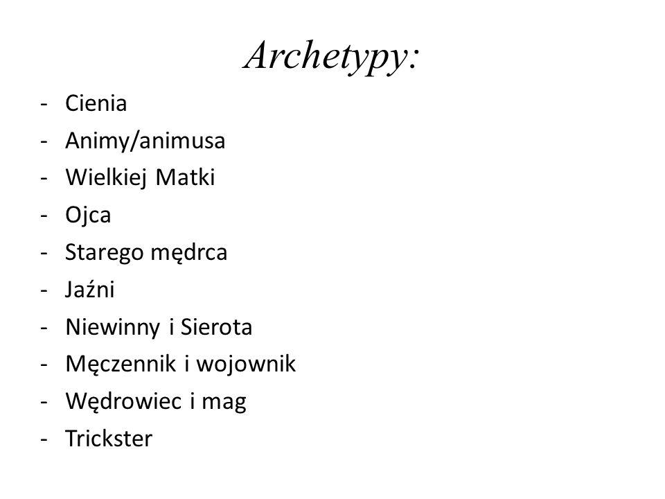 Archetypy: Cienia Animy/animusa Wielkiej Matki Ojca Starego mędrca