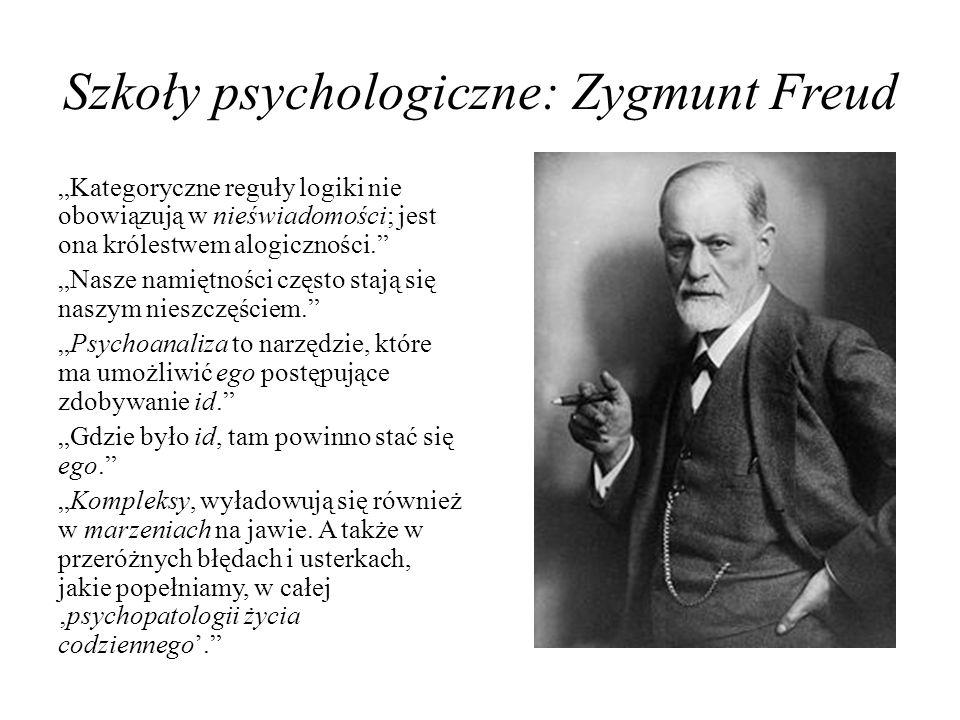 Szkoły psychologiczne: Zygmunt Freud