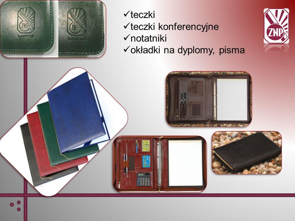 teczki teczki konferencyjne notatniki okładki na dyplomy, pisma