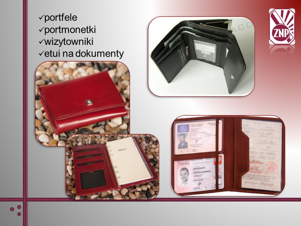 portfele portmonetki wizytowniki etui na dokumenty