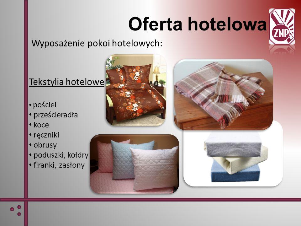 Oferta hotelowa Wyposażenie pokoi hotelowych: Tekstylia hotelowe