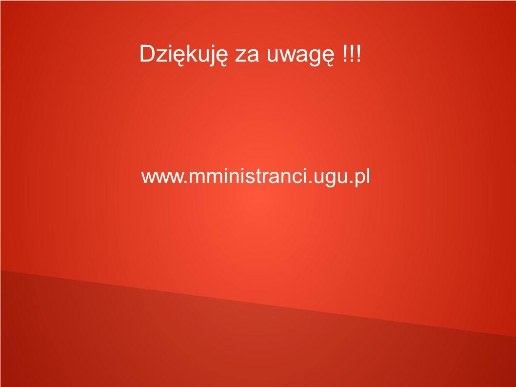 Dziękuję za uwagę !!! www.mministranci.ugu.pl