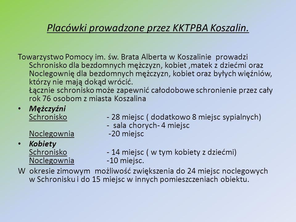 Placówki prowadzone przez KKTPBA Koszalin.