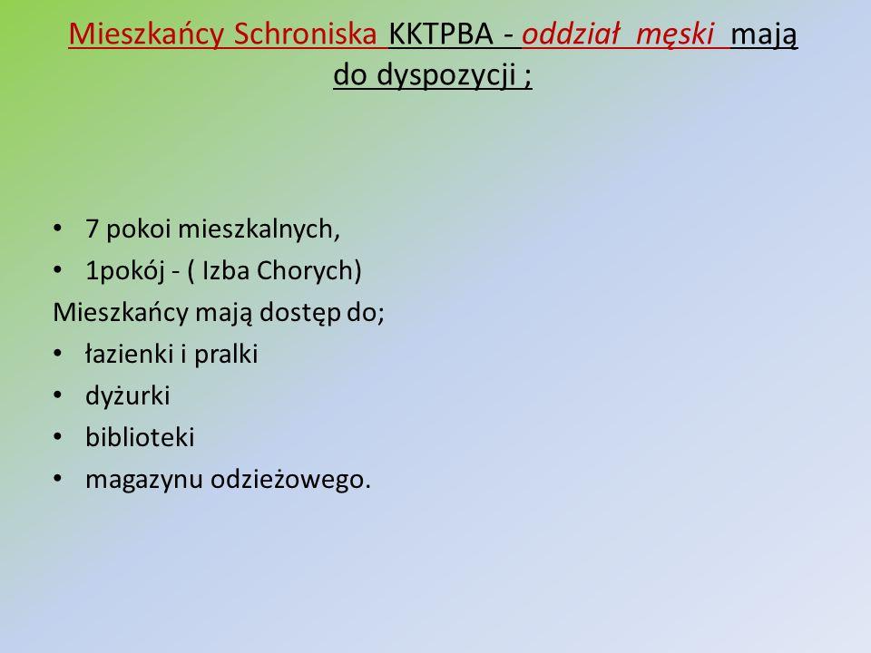 Mieszkańcy Schroniska KKTPBA - oddział męski mają do dyspozycji ;
