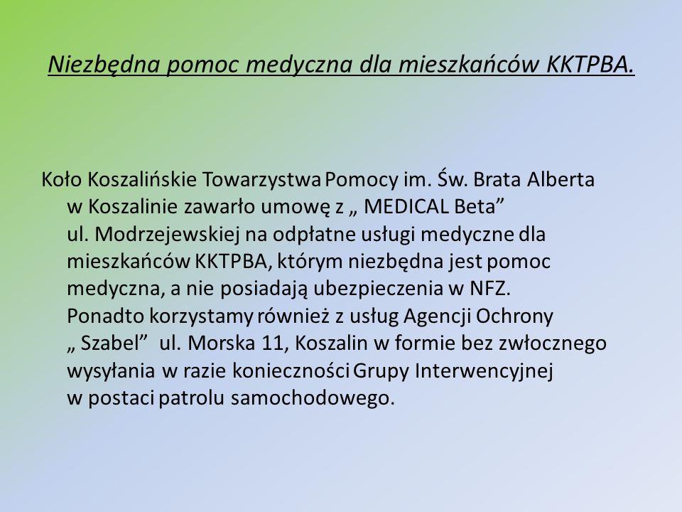 Niezbędna pomoc medyczna dla mieszkańców KKTPBA.