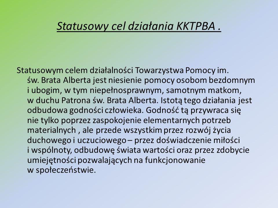Statusowy cel działania KKTPBA .