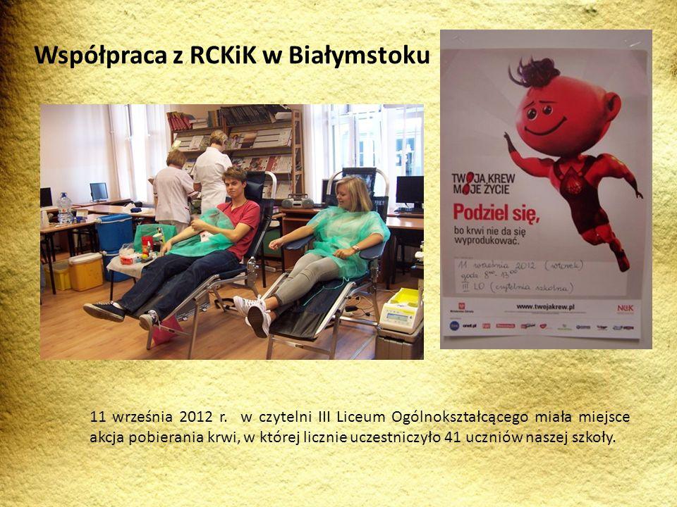 Współpraca z RCKiK w Białymstoku