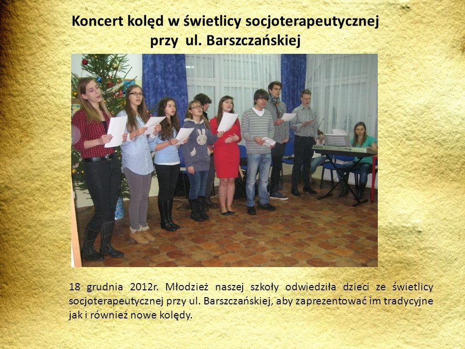Koncert kolęd w świetlicy socjoterapeutycznej przy ul. Barszczańskiej
