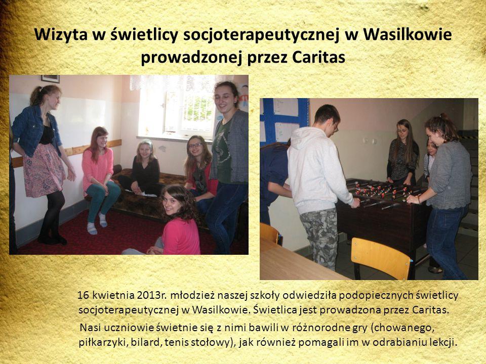Wizyta w świetlicy socjoterapeutycznej w Wasilkowie prowadzonej przez Caritas