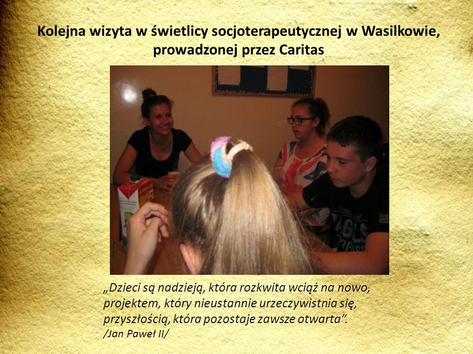Kolejna wizyta w świetlicy socjoterapeutycznej w Wasilkowie, prowadzonej przez Caritas