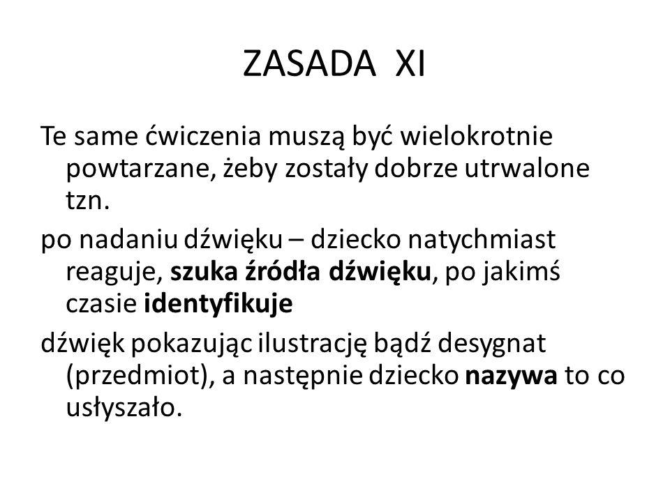 ZASADA XI