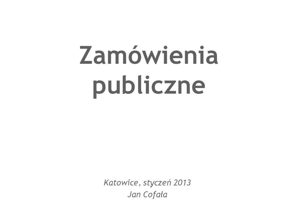 Katowice, styczeń 2013 Jan Cofała
