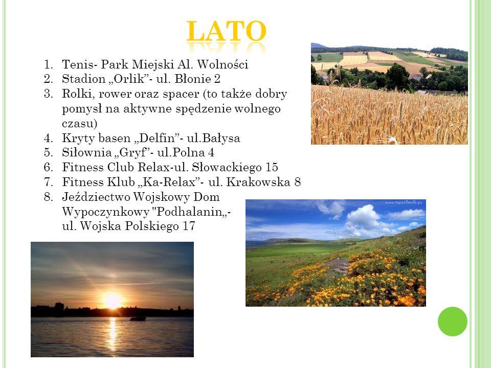"""Lato Tenis- Park Miejski Al. Wolności Stadion """"Orlik - ul. Błonie 2"""