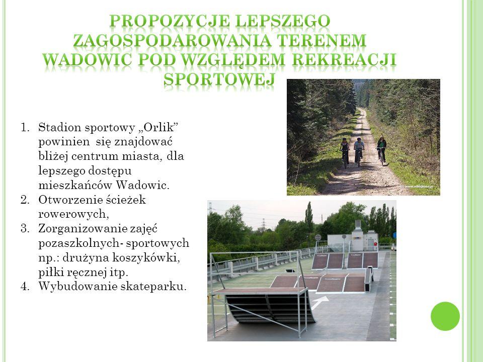 Propozycje lepszego zagospodarowania terenem Wadowic pod względem rekreacji sportowej