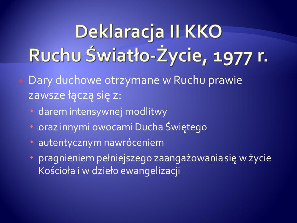 Deklaracja II KKO Ruchu Światło-Życie, 1977 r.