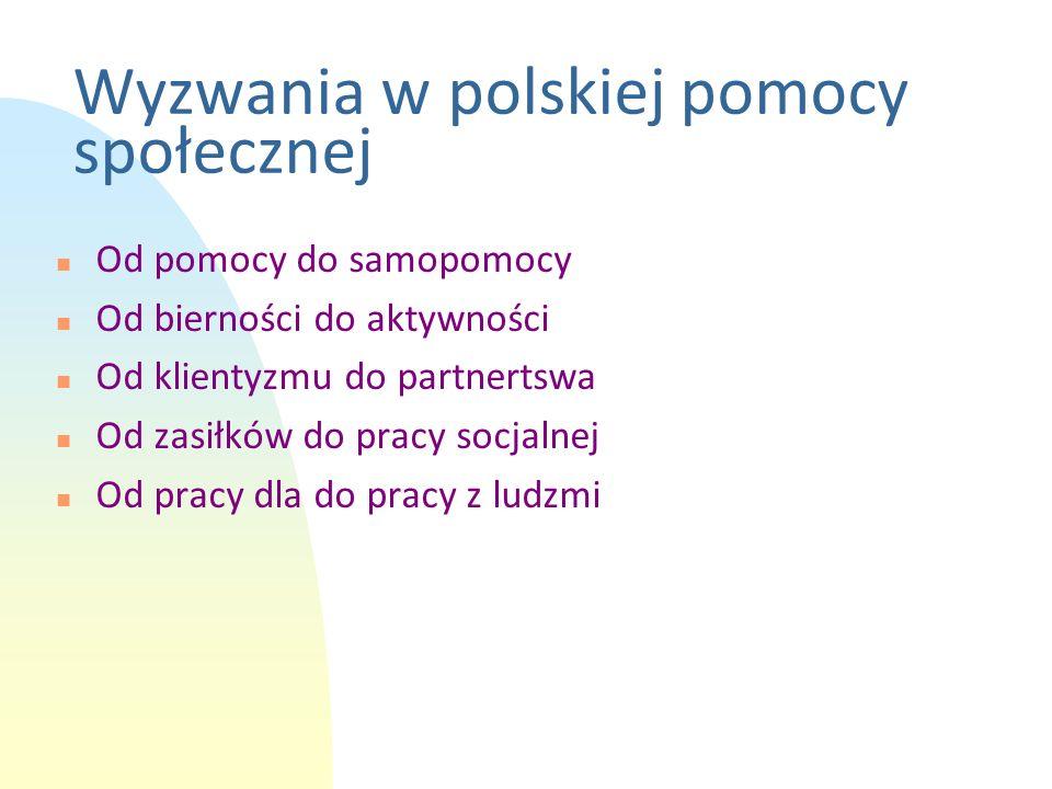 Wyzwania w polskiej pomocy społecznej