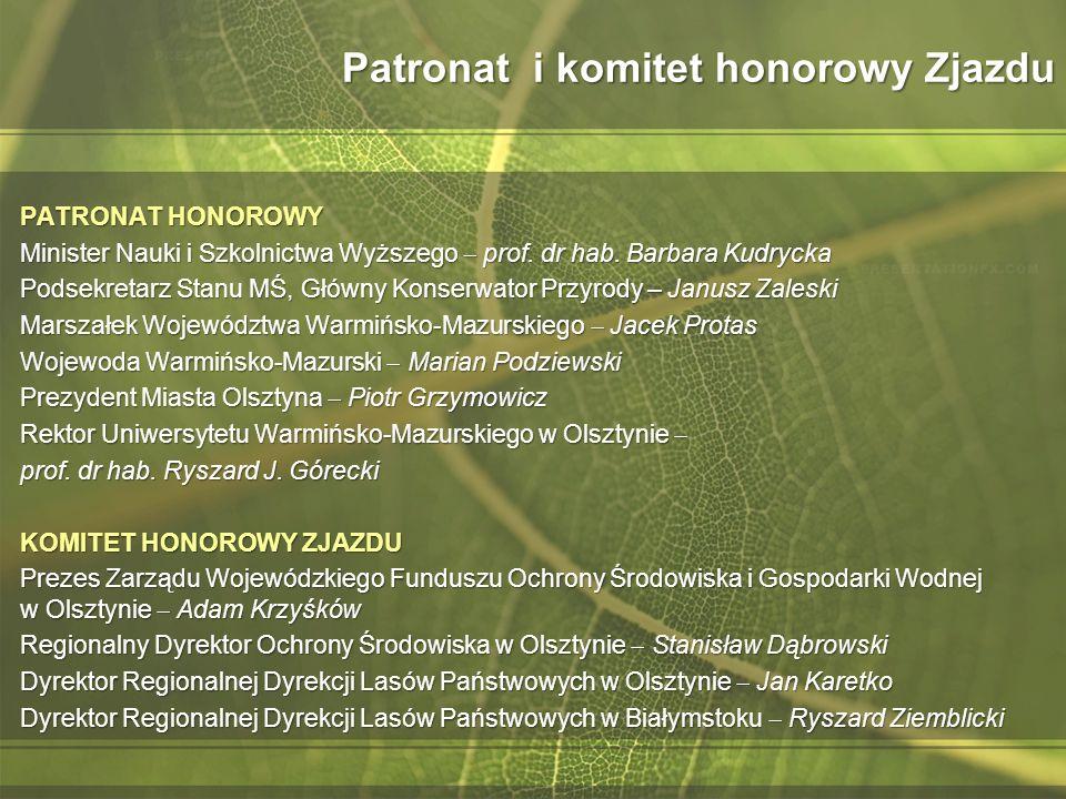 Patronat i komitet honorowy Zjazdu