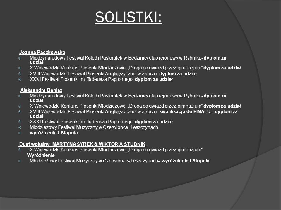 SOLISTKI: Joanna Paczkowska