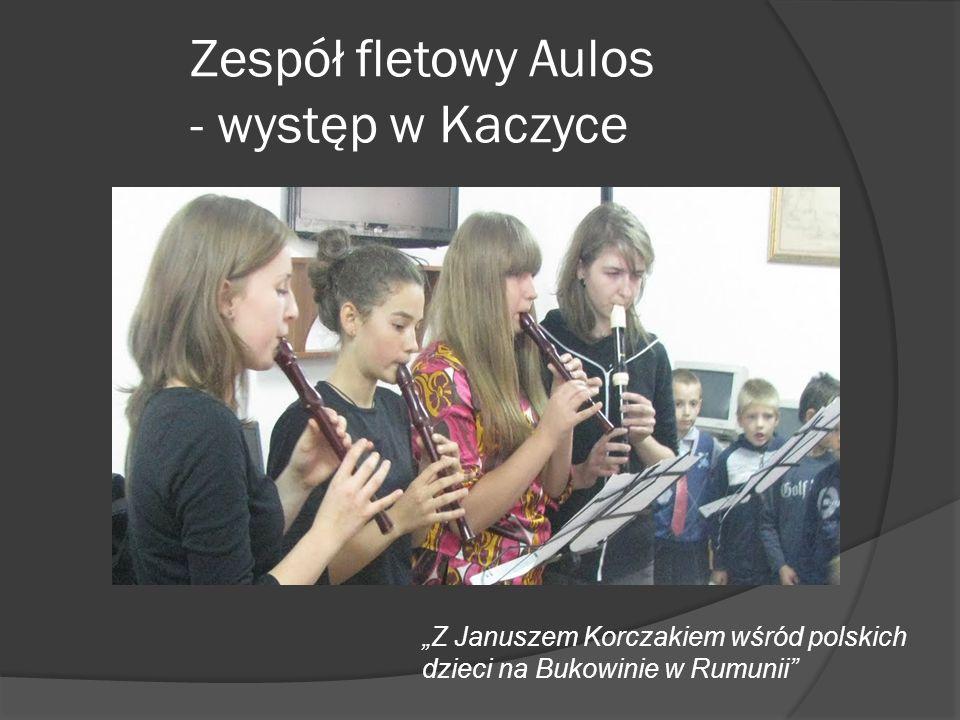 Zespół fletowy Aulos - występ w Kaczyce