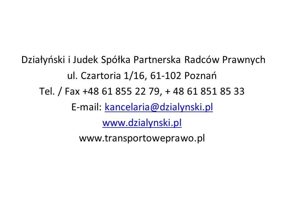 Działyński i Judek Spółka Partnerska Radców Prawnych