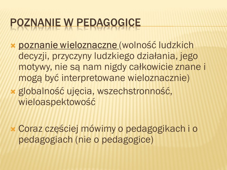 Poznanie w pedagogice