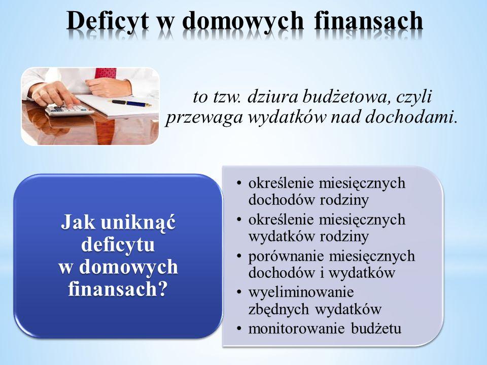 Deficyt w domowych finansach