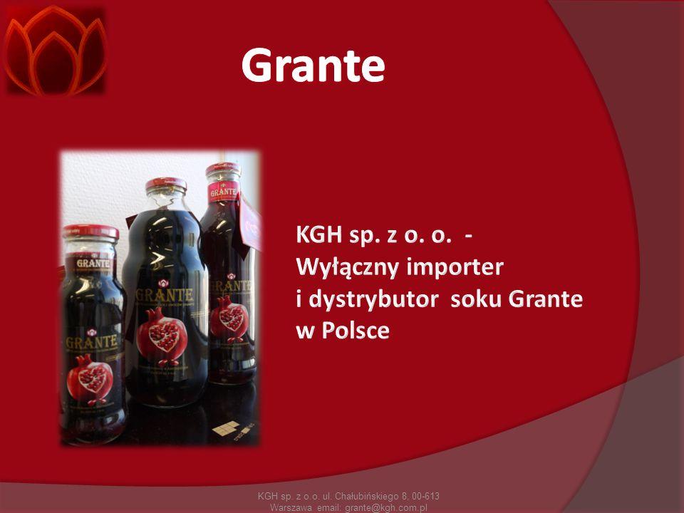 Grante KGH sp. z o. o. - Wyłączny importer