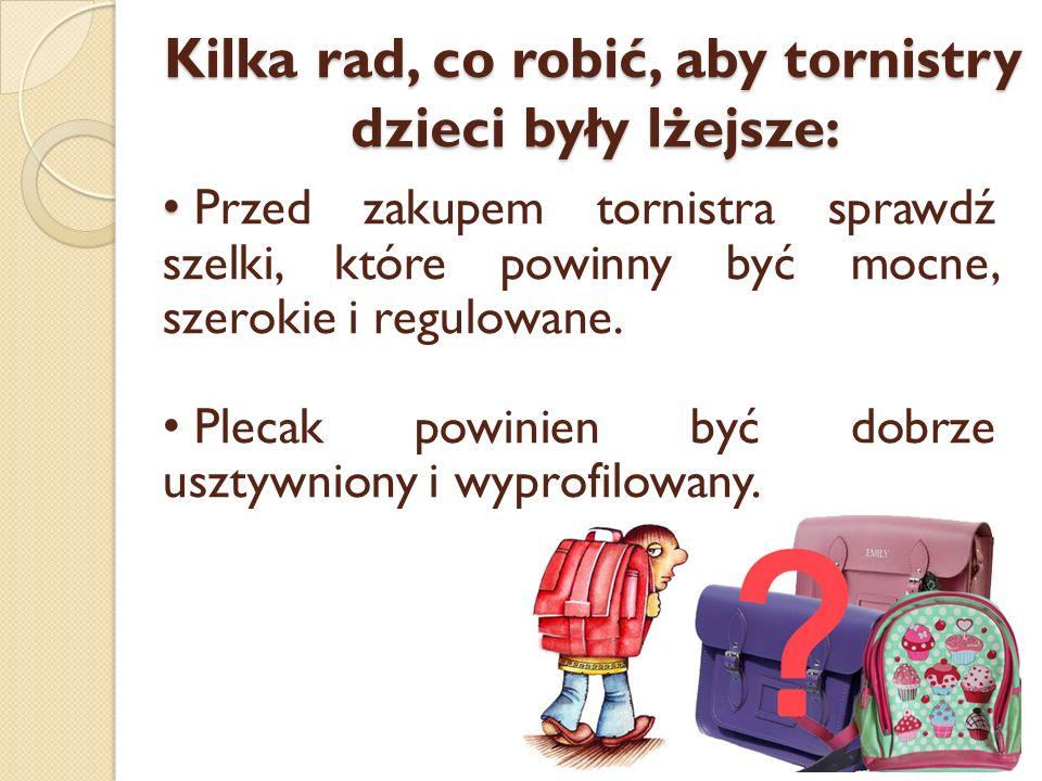Kilka rad, co robić, aby tornistry dzieci były lżejsze:
