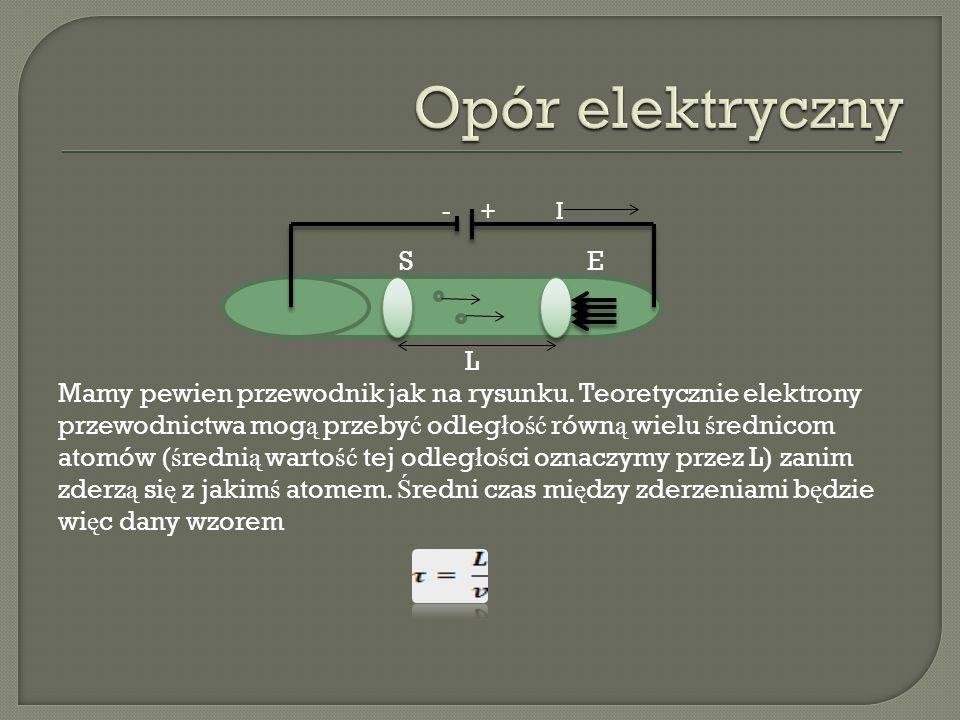 Opór elektryczny - + I S E L