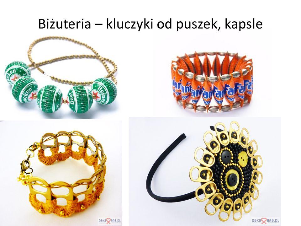 Biżuteria – kluczyki od puszek, kapsle