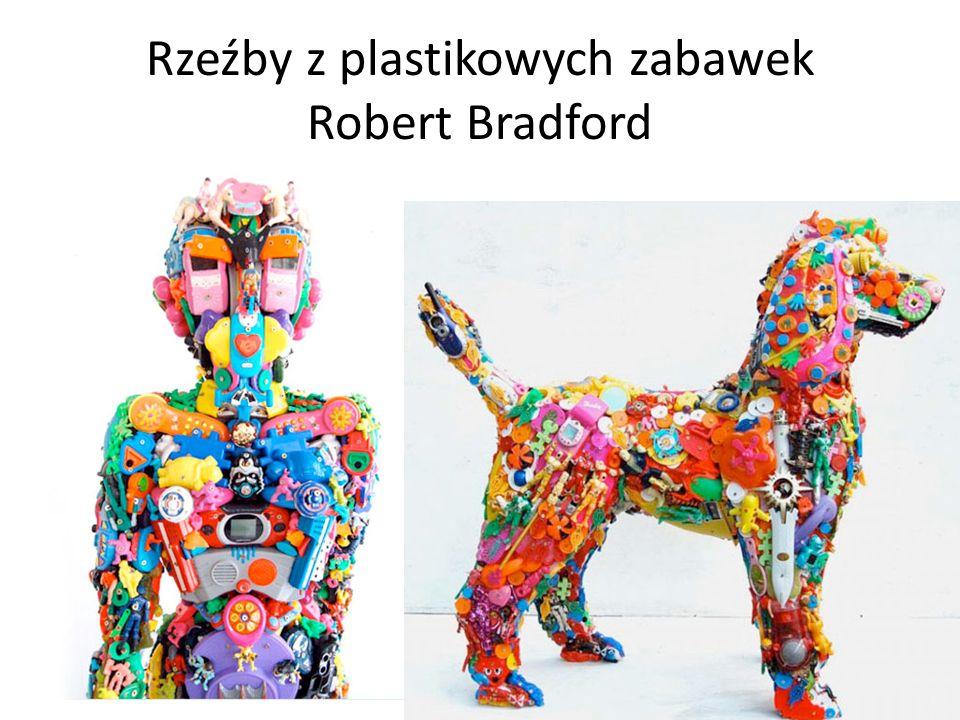 Rzeźby z plastikowych zabawek Robert Bradford