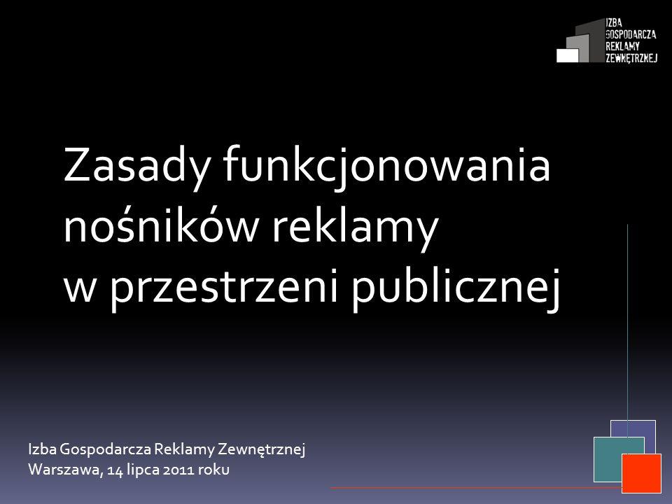 Zasady funkcjonowania nośników reklamy w przestrzeni publicznej