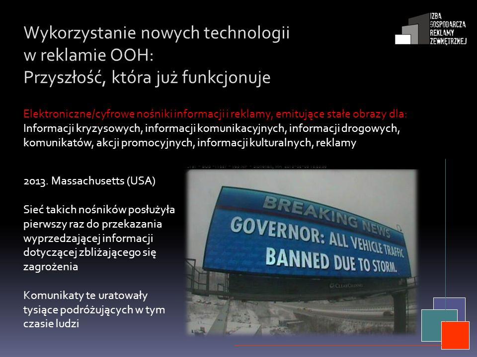 Wykorzystanie nowych technologii w reklamie OOH: