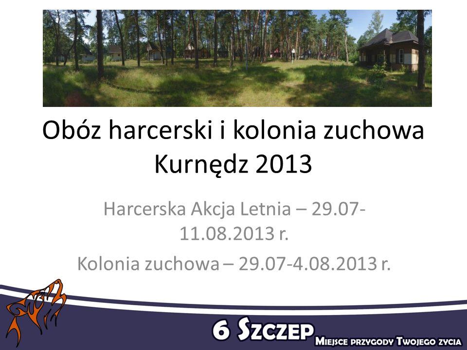 Obóz harcerski i kolonia zuchowa Kurnędz 2013