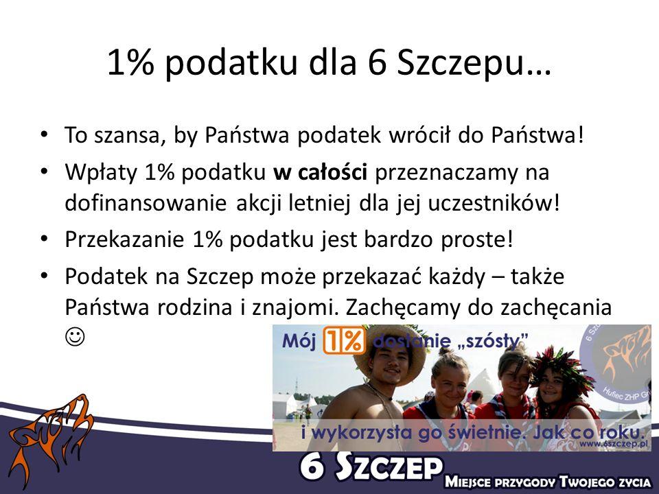 1% podatku dla 6 Szczepu… To szansa, by Państwa podatek wrócił do Państwa!