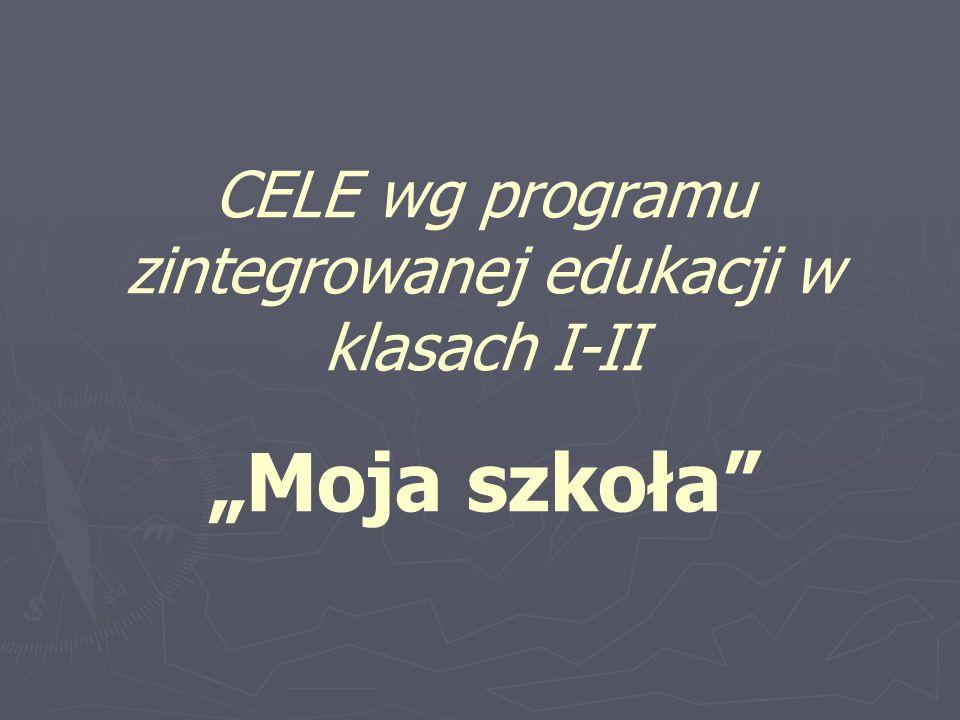 CELE wg programu zintegrowanej edukacji w klasach I-II