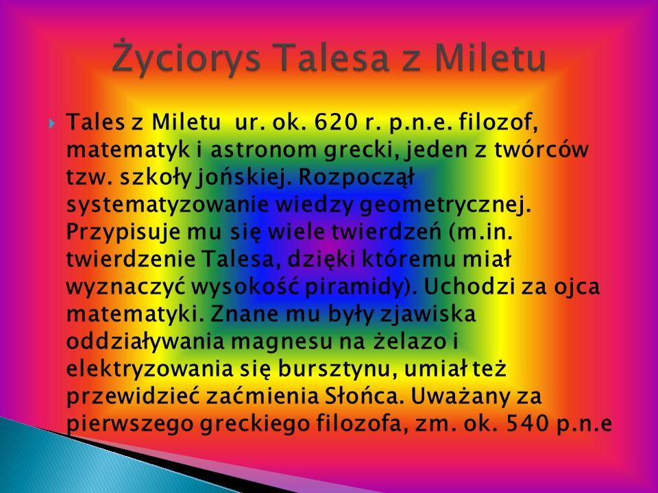 Życiorys Talesa z Miletu