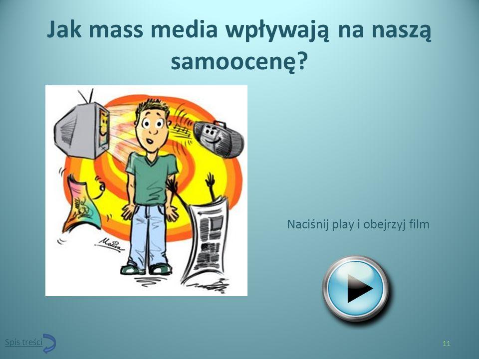 Jak mass media wpływają na naszą samoocenę