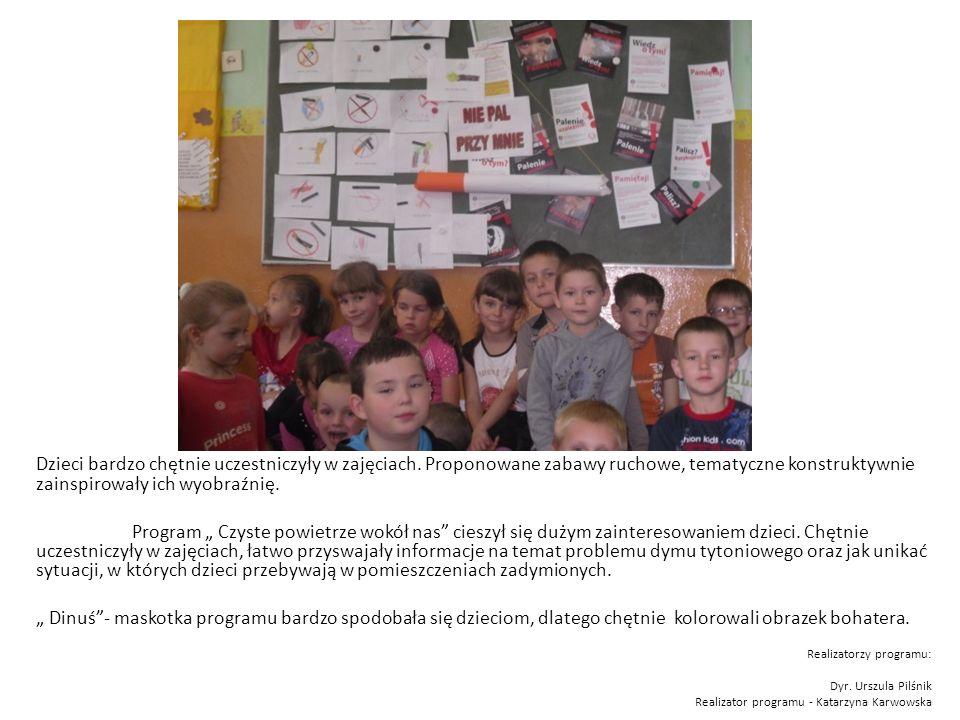 Dzieci bardzo chętnie uczestniczyły w zajęciach