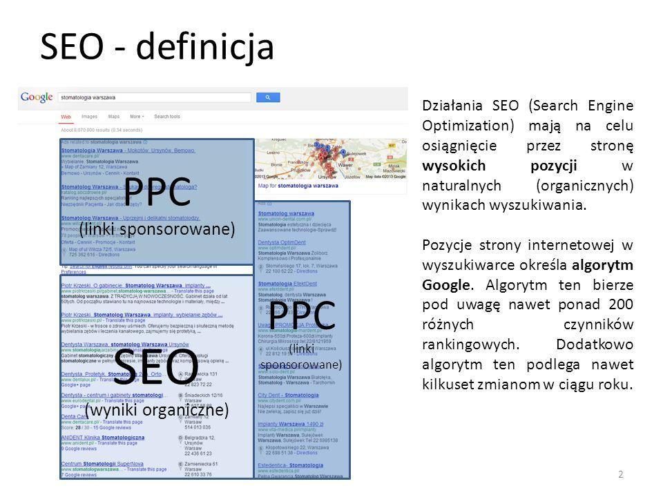 SEO PPC PPC SEO - definicja (linki sponsorowane) (wyniki organiczne)