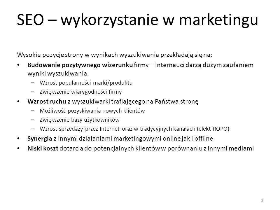 SEO – wykorzystanie w marketingu