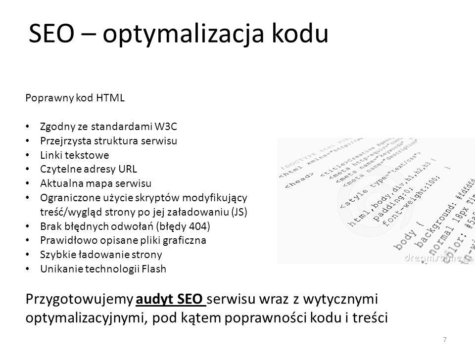 SEO – optymalizacja kodu