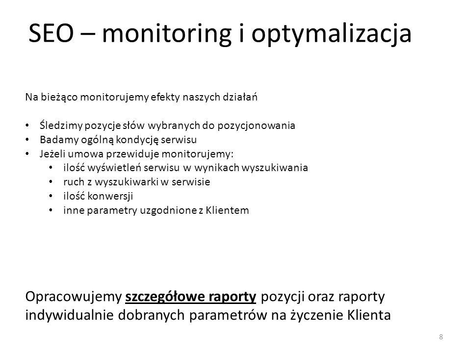 SEO – monitoring i optymalizacja