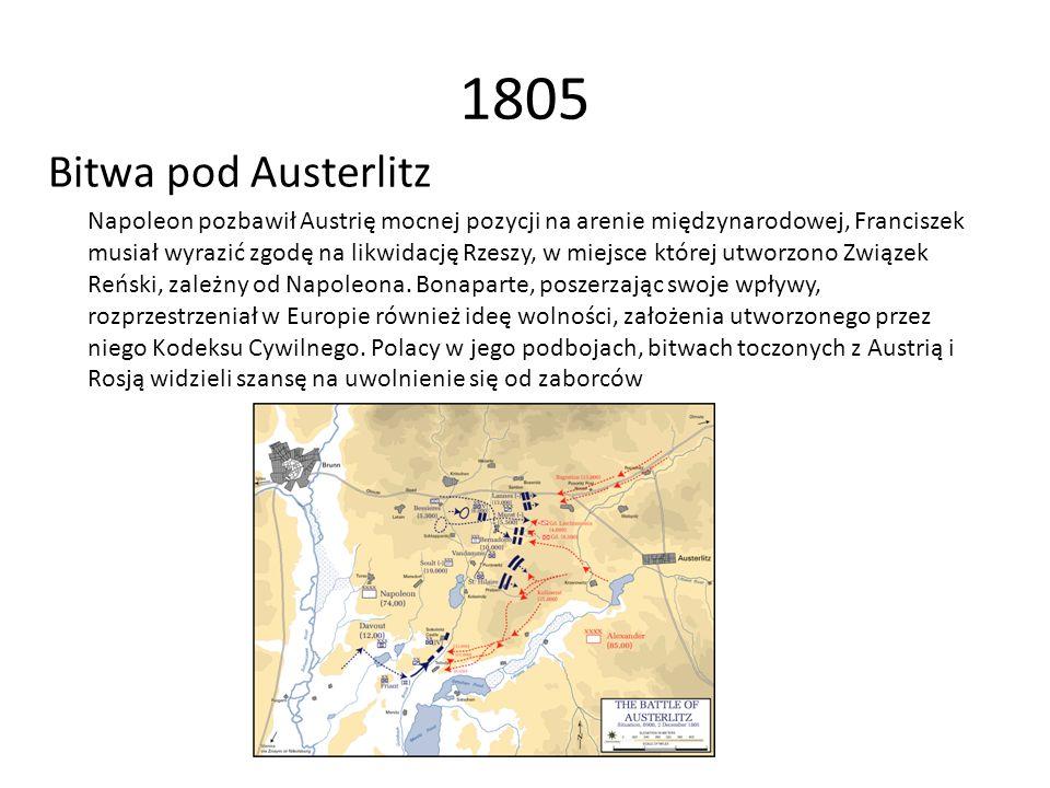 1805 Bitwa pod Austerlitz.