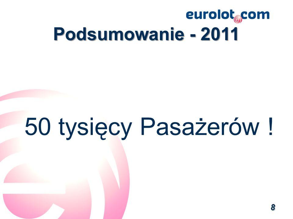 Podsumowanie - 2011 50 tysięcy Pasażerów !